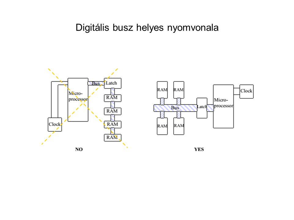 Digitális busz helyes nyomvonala
