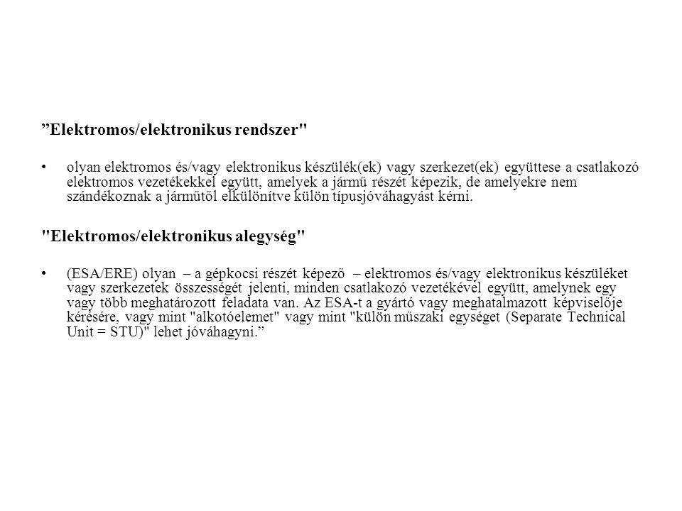 """Elektromos/elektronikus rendszer"