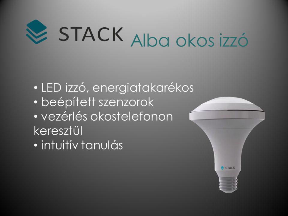 Alba okos izzó LED izzó, energiatakarékos beépített szenzorok vezérlés okostelefonon keresztül intuitív tanulás