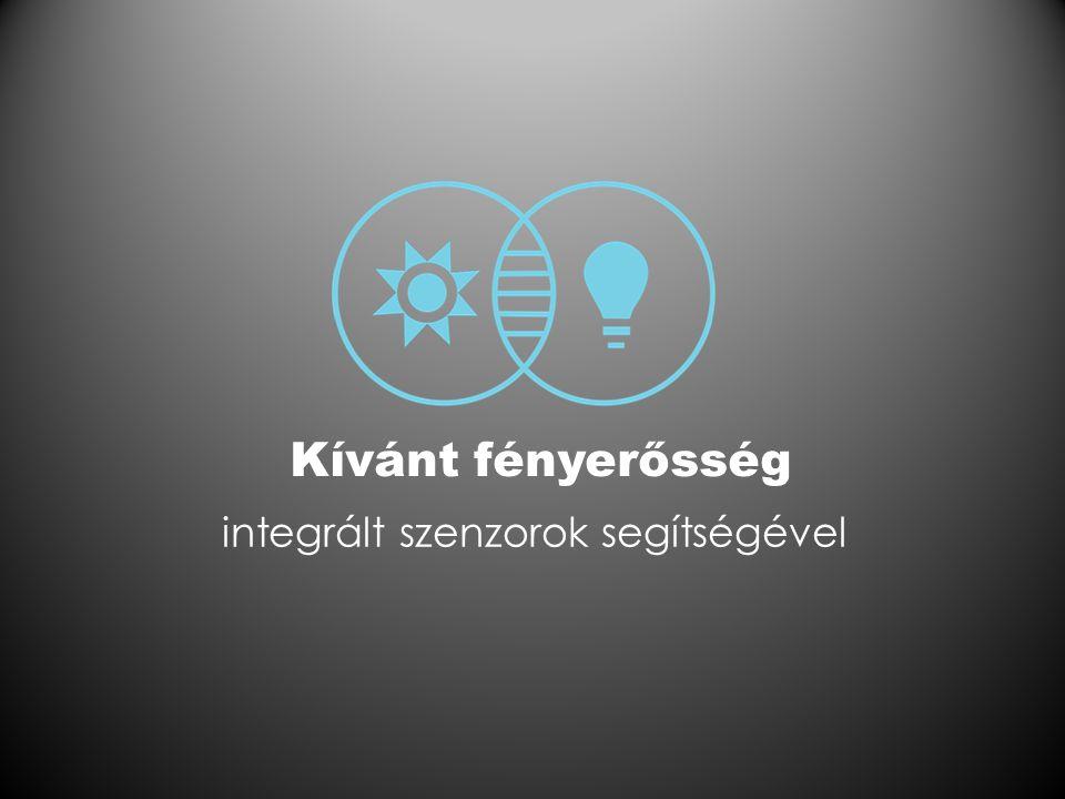 Kívánt fényerősség integrált szenzorok segítségével