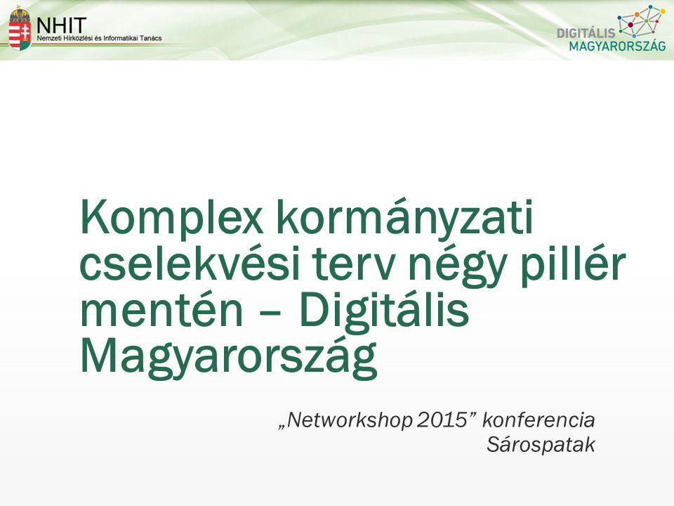 """Komplex kormányzati cselekvési terv négy pillér mentén – Digitális Magyarország """"Networkshop 2015 konferencia Sárospatak"""