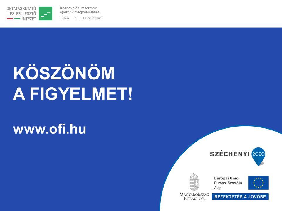 Köznevelési reformok operatív megvalósítása TÁMOP-3.1.15-14-2014-0001 KÖSZÖNÖM A FIGYELMET.