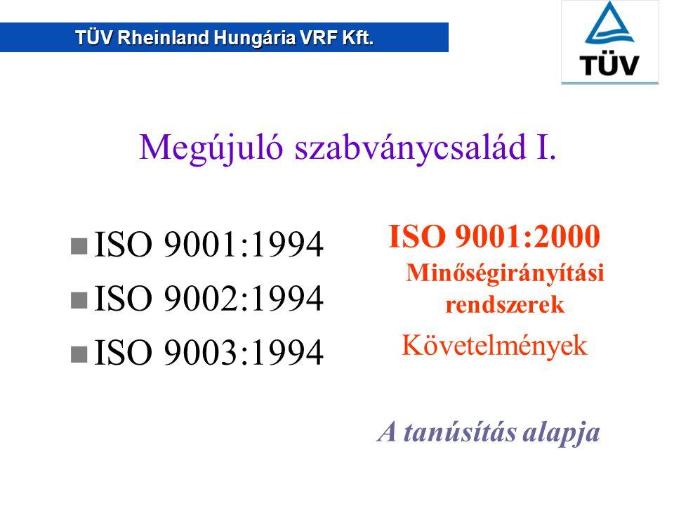 TÜV Rheinland Hungária VRF Kft.Megújuló szabványcsalád I.