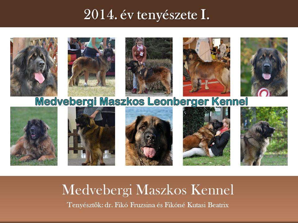 2014.év tenyészete I. Medvebergi Maszkos Kennel Tenyészt ő k: dr.