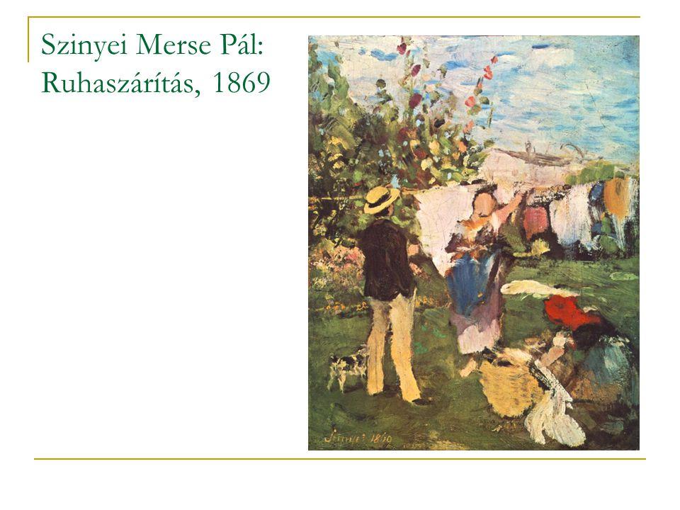 Szinyei Merse Pál: Lilaruhás nő, 1874