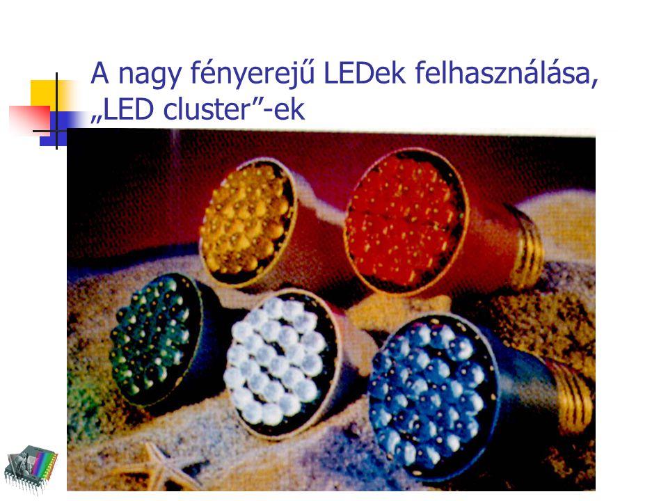 """A nagy fényerejű LEDek felhasználása, """"LED cluster""""-ek"""