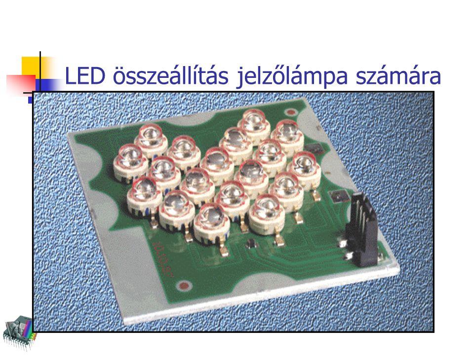 LEDes jelzőlámpa metszete