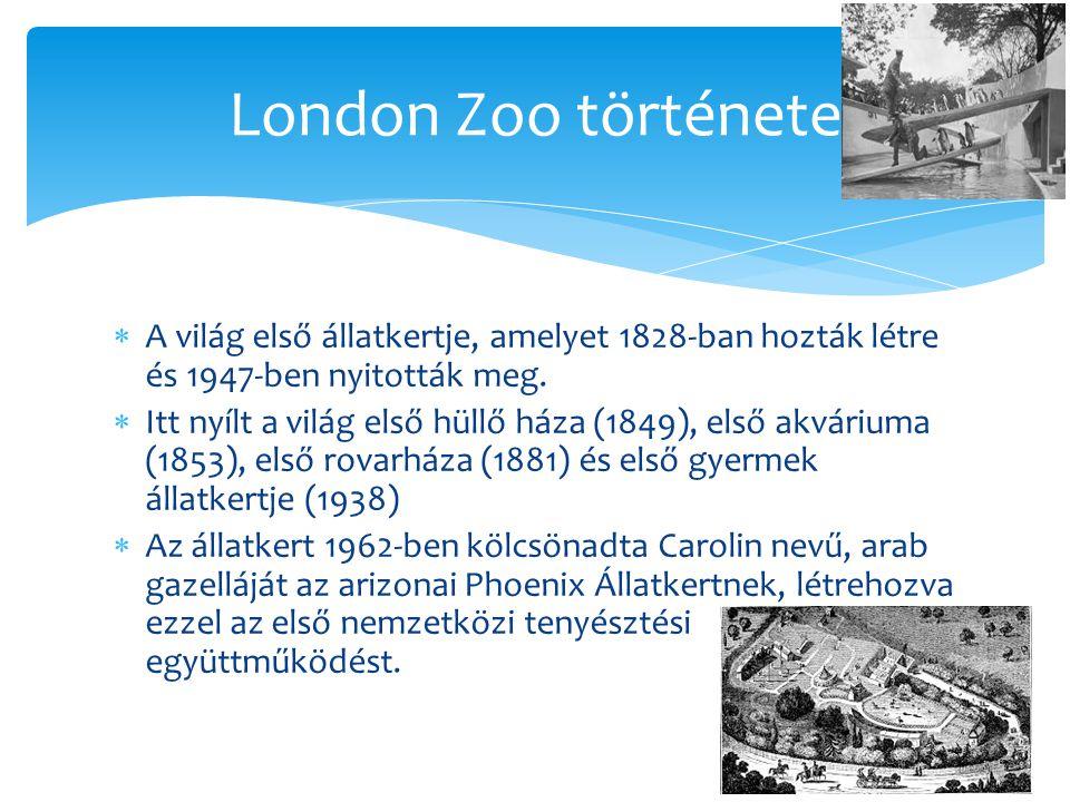  A világ első állatkertje, amelyet 1828-ban hozták létre és 1947-ben nyitották meg.  Itt nyílt a világ első hüllő háza (1849), első akváriuma (1853)