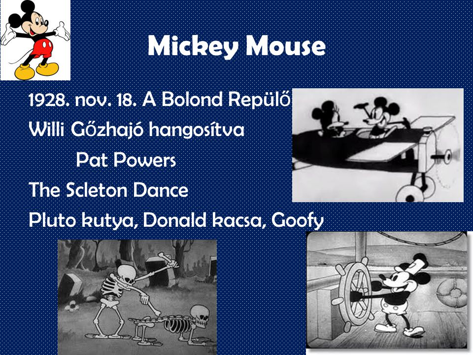 Mickey Mouse 1928. nov. 18.