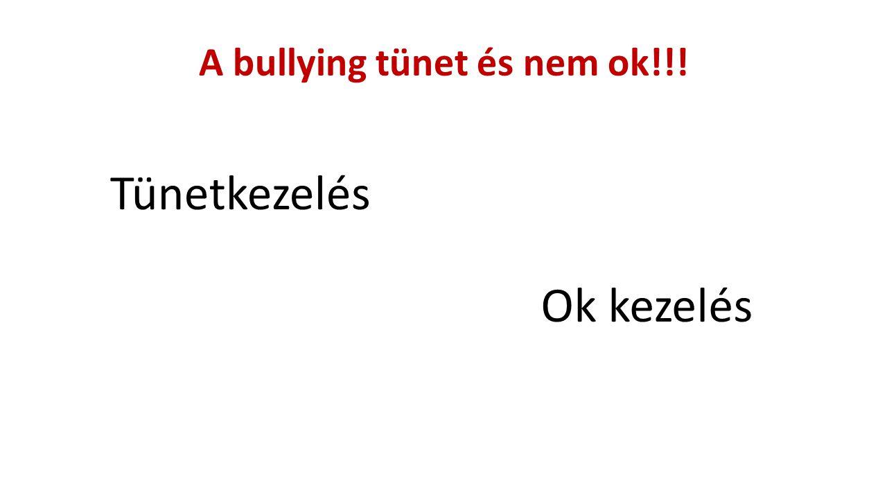 A bullying tünet és nem ok!!! Tünetkezelés Ok kezelés