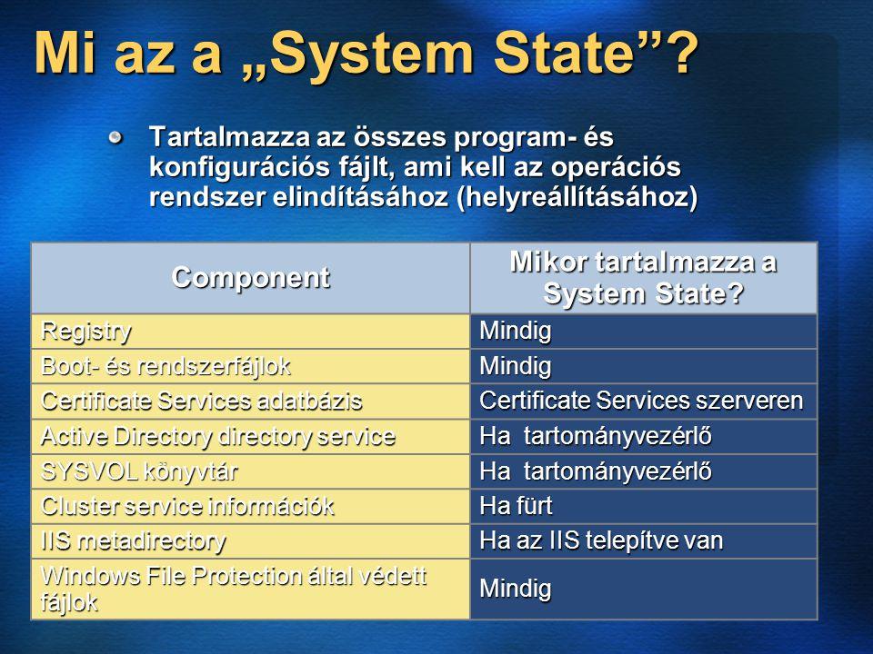 """Mi az a """"System State ."""