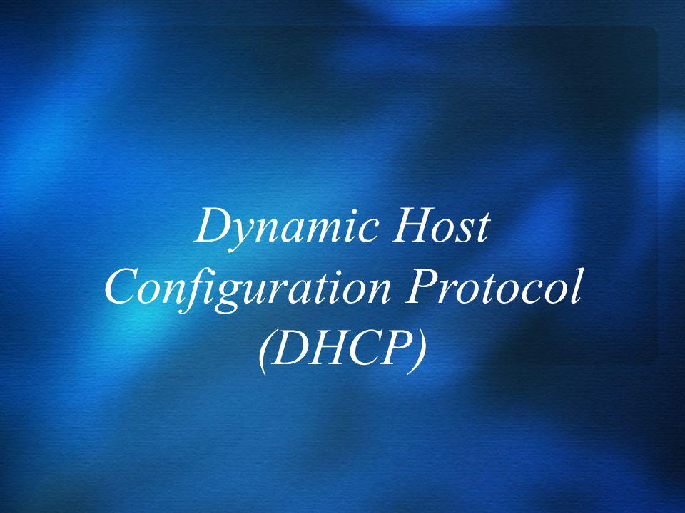 DHCP előnye DHCP a Windows Server 2003-ban Hogy működik? DHCP opciók… APIPA DNS integráció