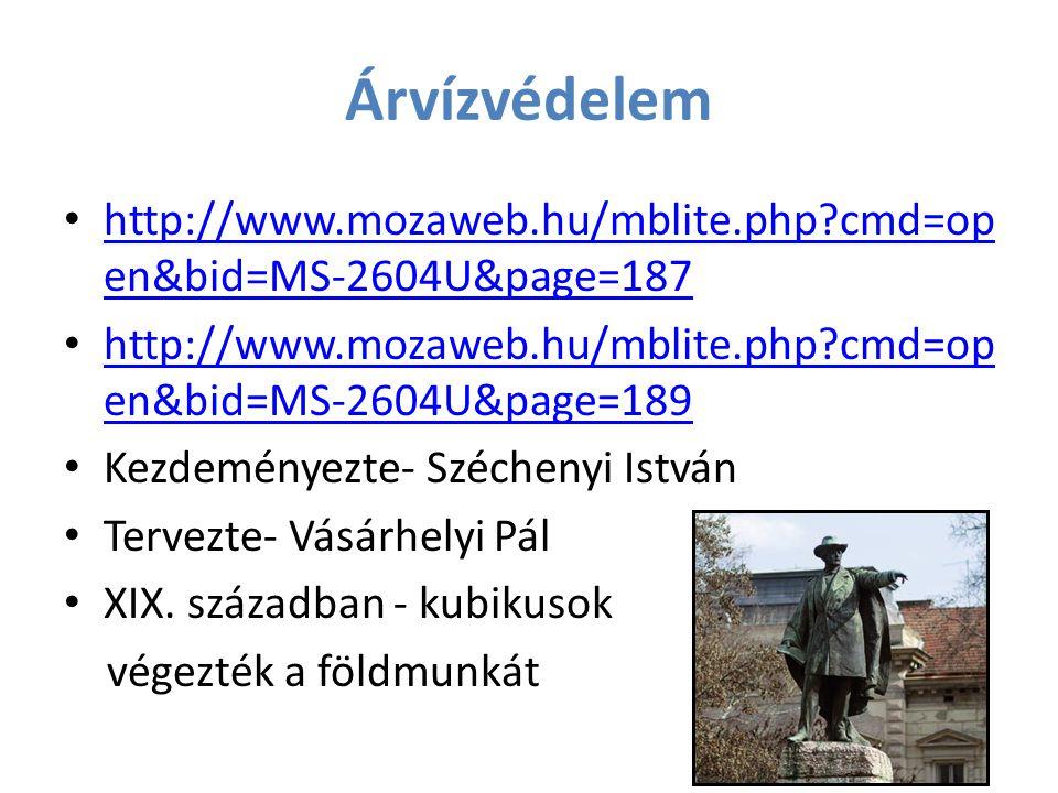 Árvízvédelem http://www.mozaweb.hu/mblite.php?cmd=op en&bid=MS-2604U&page=187 http://www.mozaweb.hu/mblite.php?cmd=op en&bid=MS-2604U&page=187 http://
