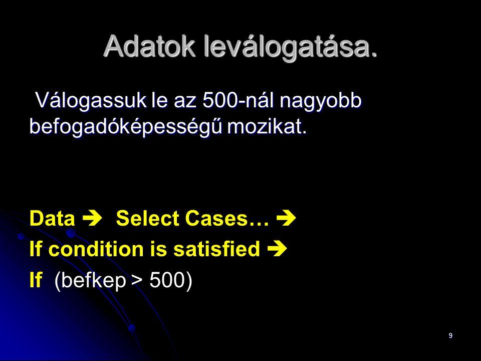 "20 Csuprov (2) 4.""Statistics nyomógomb. 5."