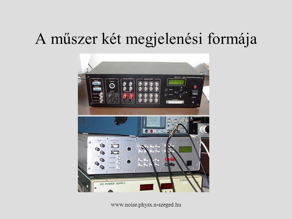 www.noise.physx.u-szeged.hu A műszer két megjelenési formája