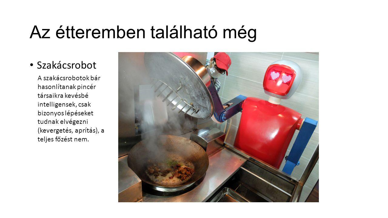 Az étteremben található még Szakácsrobot A szakácsrobotok bár hasonlítanak pincér társaikra kevésbé intelligensek, csak bizonyos lépéseket tudnak elvé