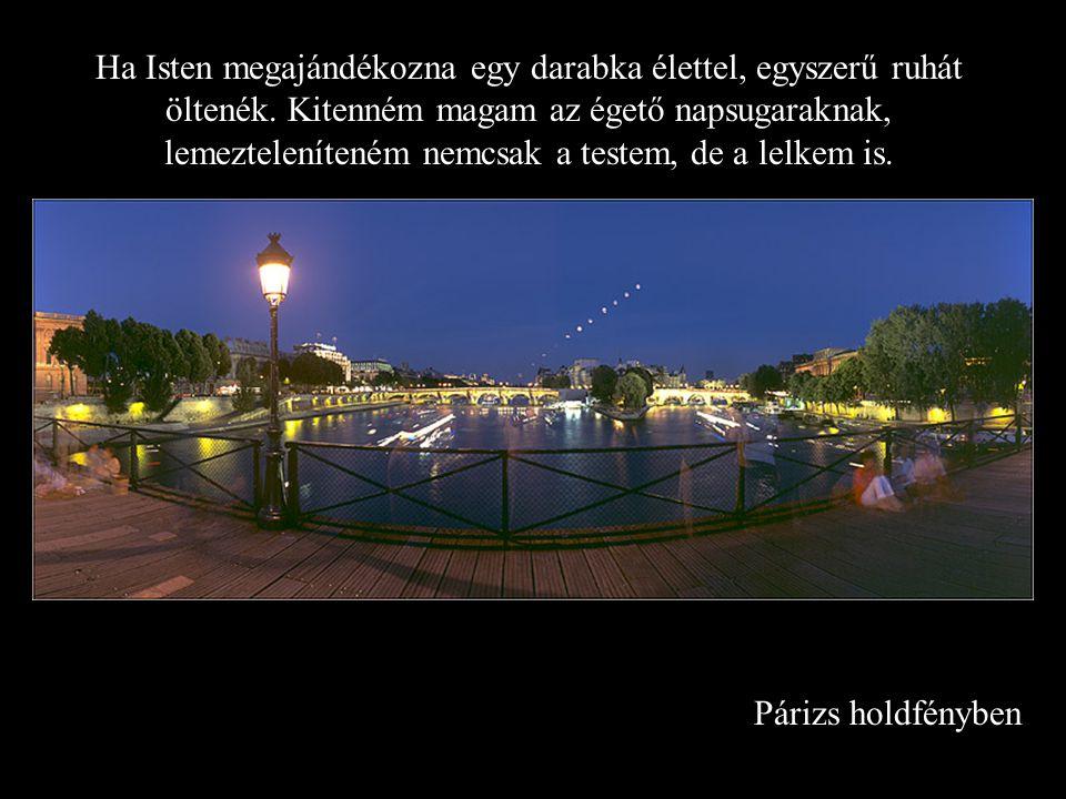 Párizs holdfényben Ha Isten megajándékozna egy darabka élettel, egyszerű ruhát öltenék.