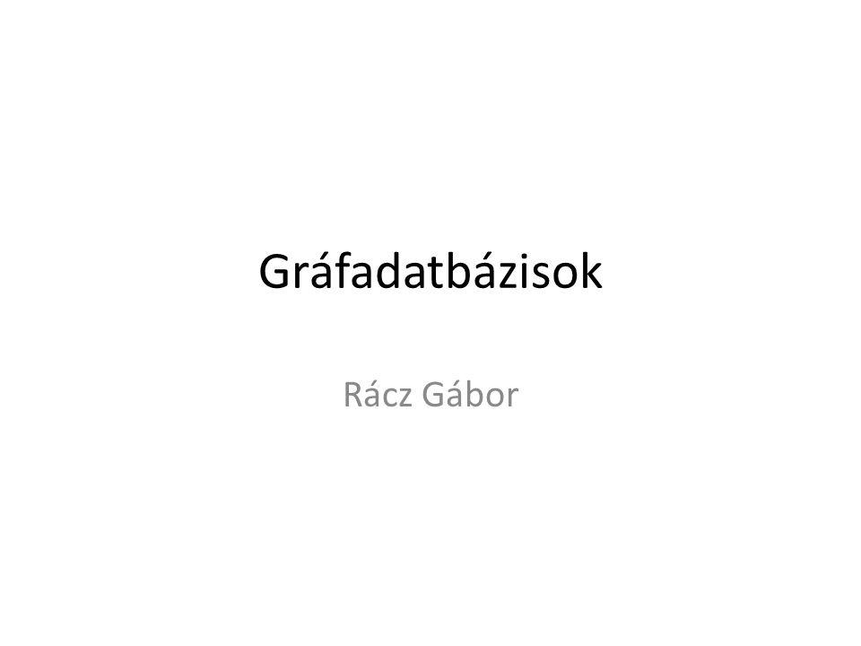 Gráfadatbázisok Rácz Gábor