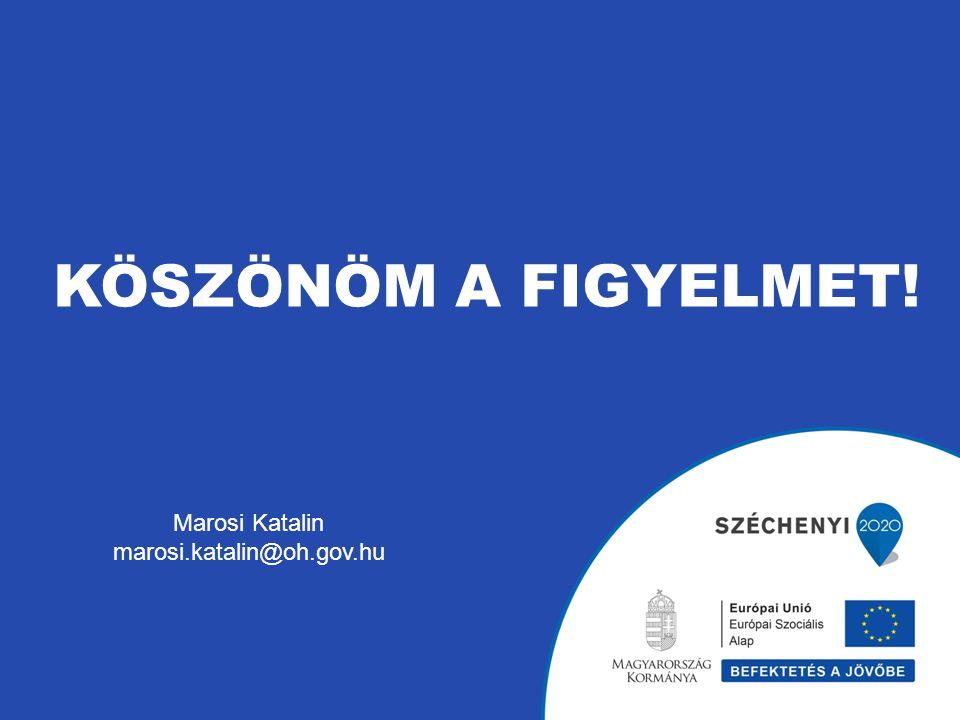KÖSZÖNÖM A FIGYELMET! Marosi Katalin marosi.katalin@oh.gov.hu