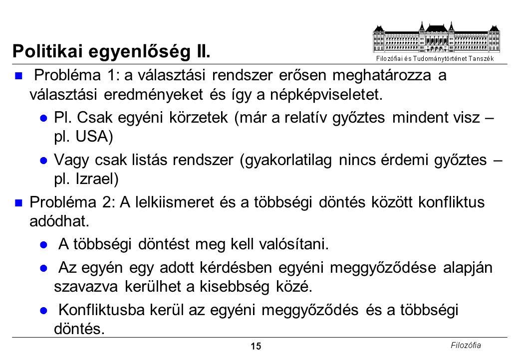 15 Filozófia Politikai egyenlőség II.