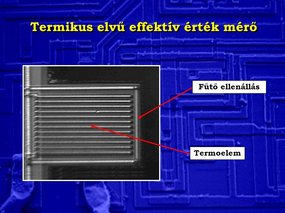 Termikus elvű effektív érték mérő Fűtő ellenállás Termoelem