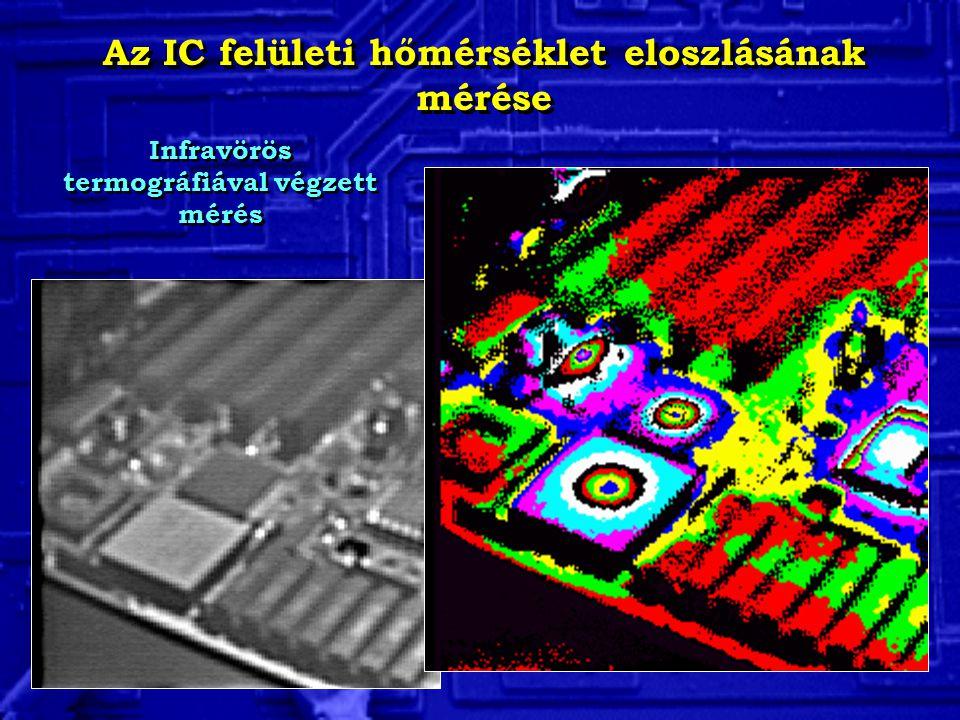 Az IC felületi hőmérséklet eloszlásának mérése Infravörös termográfiával végzett mérés