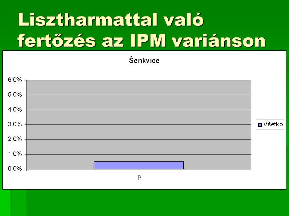 Lisztharmattal való fertőzés az IPM variánson