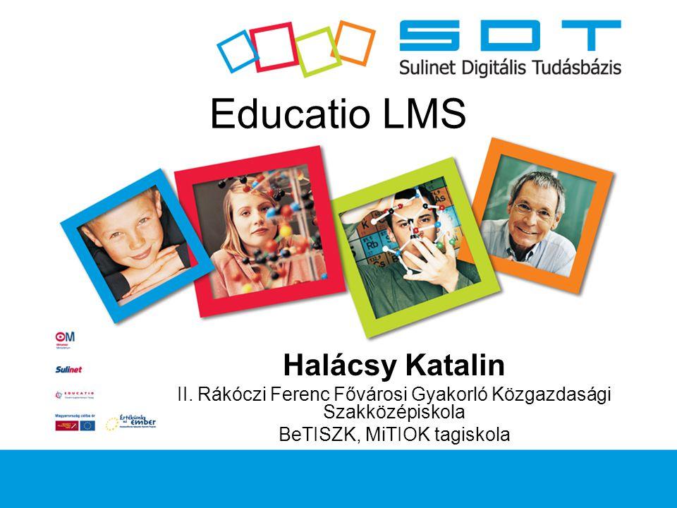 Educatio LMS Halácsy Katalin II.