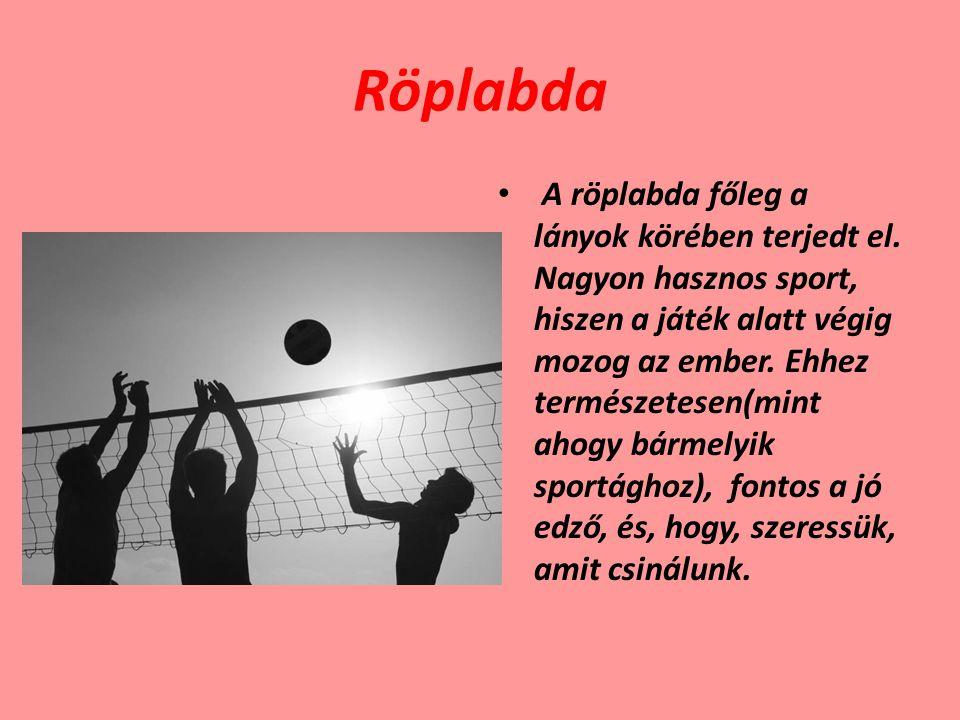 Röplabda A röplabda főleg a lányok körében terjedt el. Nagyon hasznos sport, hiszen a játék alatt végig mozog az ember. Ehhez természetesen(mint ahogy