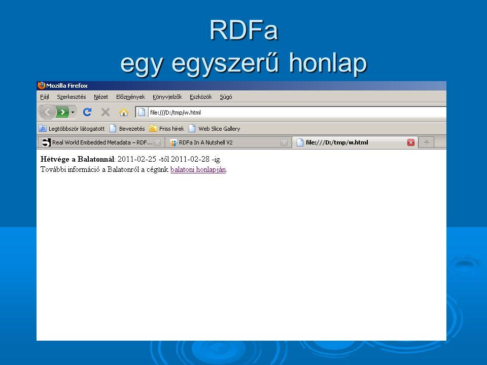 RDFa egy egyszerű honlap