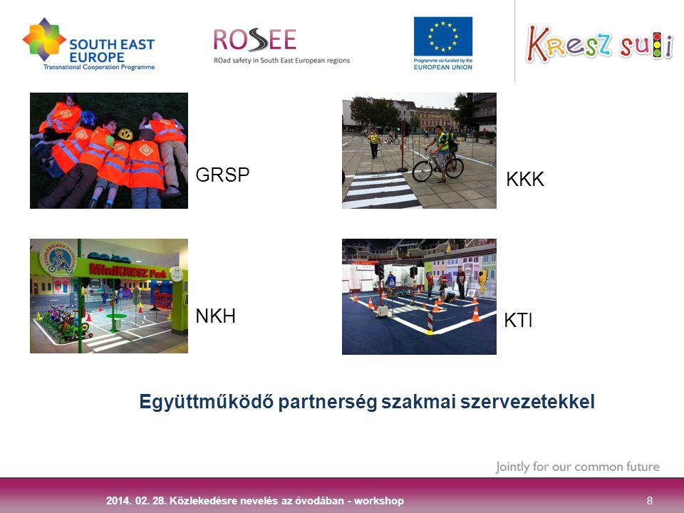 8 2014. 02. 28. Közlekedésre nevelés az óvodában - workshop Együttműködő partnerség szakmai szervezetekkel GRSP NKH KKK KTI