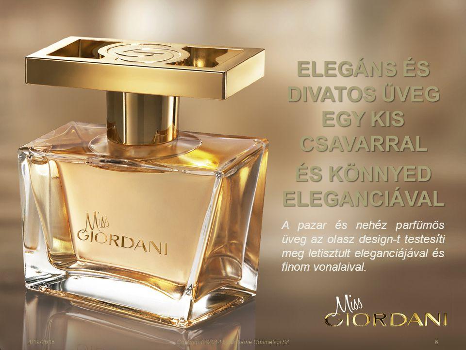 A pazar és nehéz parfümös üveg az olasz design-t testesíti meg letisztult eleganciájával és finom vonalaival.