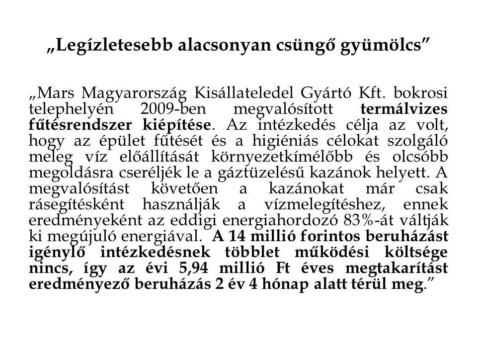 """""""Legízletesebb alacsonyan csüngő gyümölcs """"Mars Magyarország Kisállateledel Gyártó Kft."""