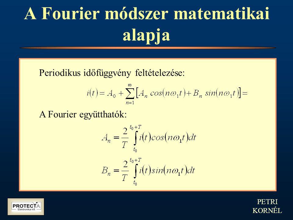 PETRI KORNÉL A Fourier módszer matematikai alapja Periodikus időfüggvény feltételezése: A Fourier együtthatók: