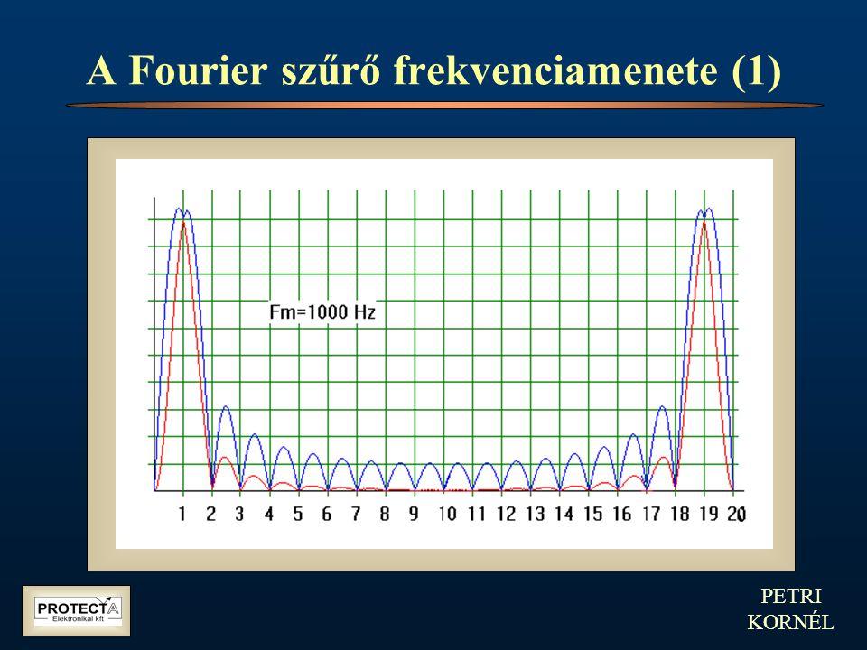 PETRI KORNÉL A Fourier szűrő frekvenciamenete (1)