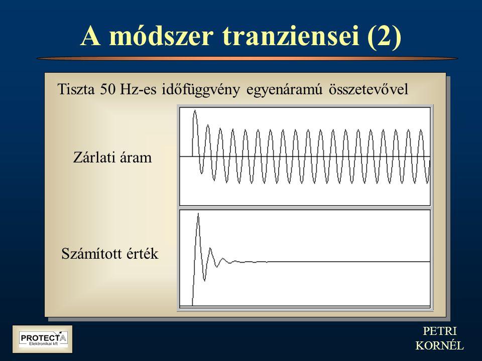 PETRI KORNÉL A Fourier együtthatók Álló koordináta-rendszer Forgó koordináta-rendszer