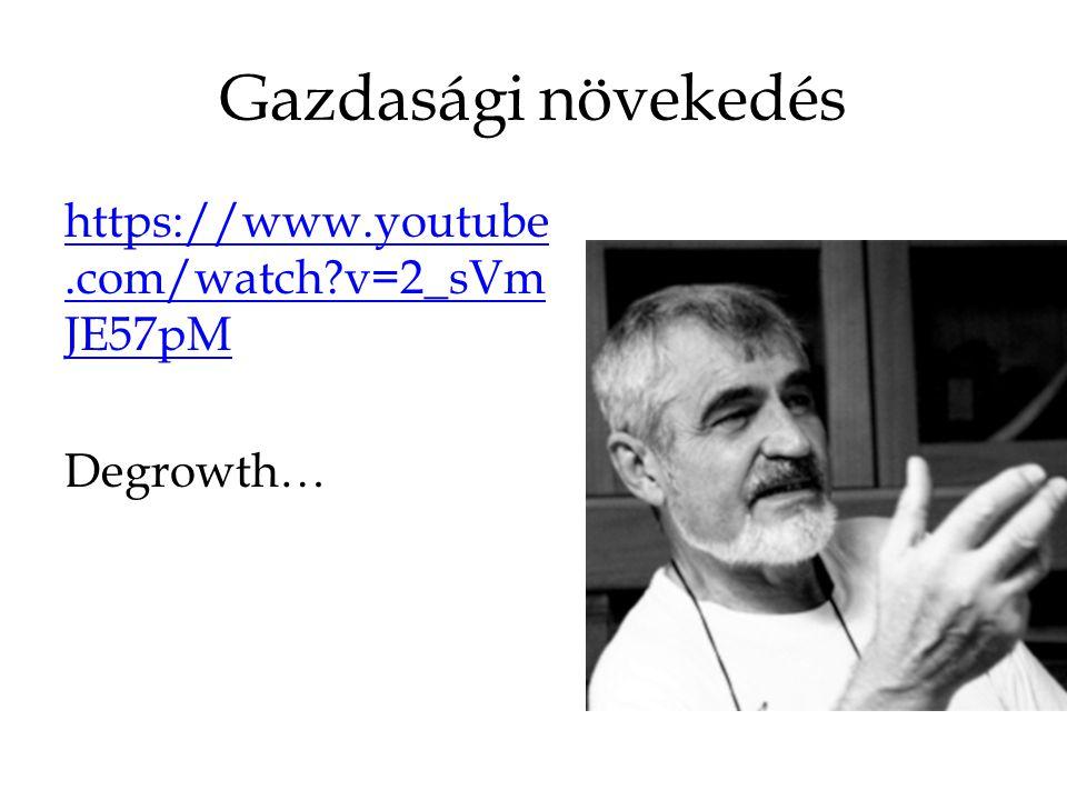 Gazdasági növekedés https://www.youtube.com/watch?v=2_sVm JE57pM Degrowth…