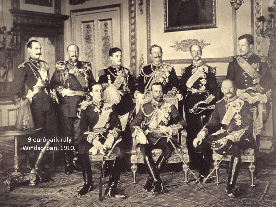 9 európai király Windsorban. 1910.
