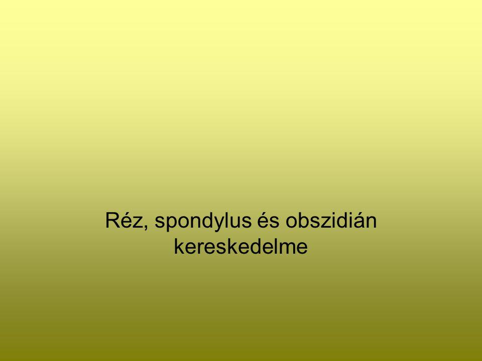Réz, spondylus és obszidián kereskedelme