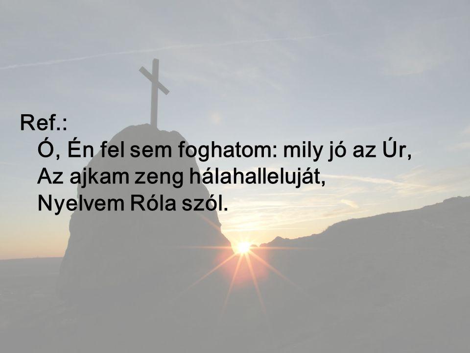Ref.: Ó, Én fel sem foghatom: mily jó az Úr, Az ajkam zeng hálahalleluját, Nyelvem Róla szól.