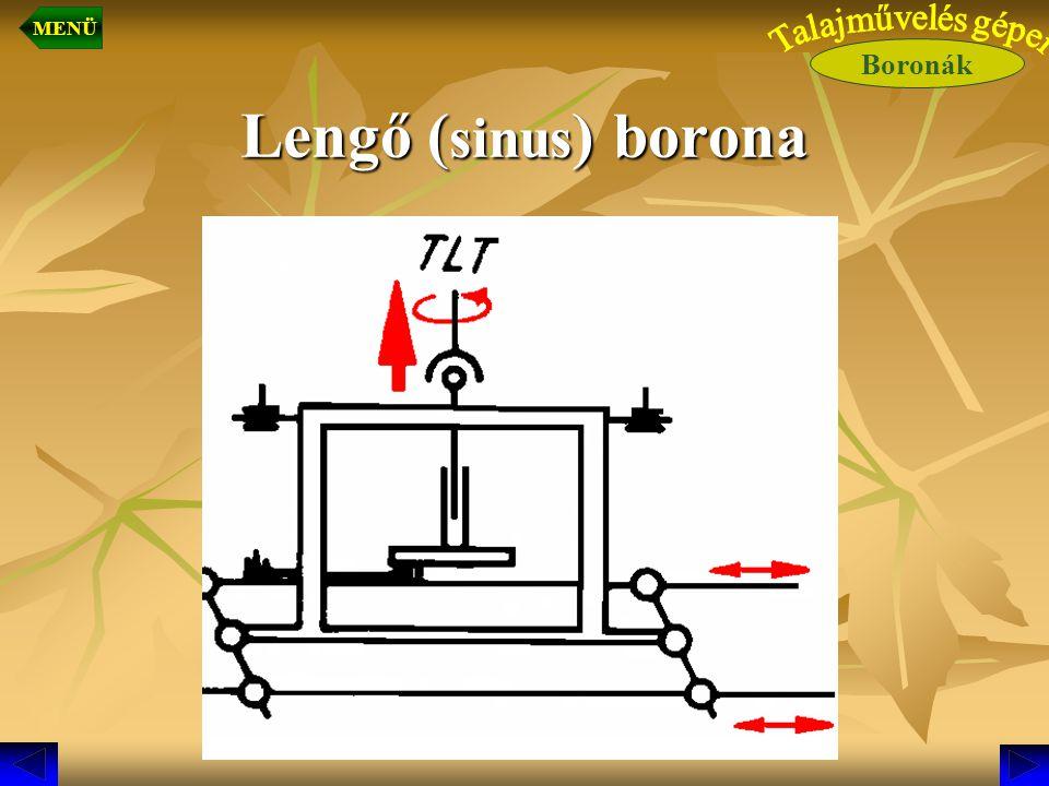 Lengő ( sinus ) borona Boronák MENÜ