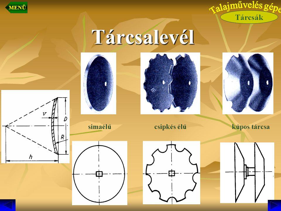 Ásóborona 1 2 3 4 2.Függesztő-szerkezet4. Művelőszerszámok (késkeresztek) 3.