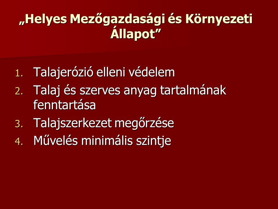 """""""Helyes Mezőgazdasági és Környezeti Állapot 1. Talajerózió elleni védelem 2."""