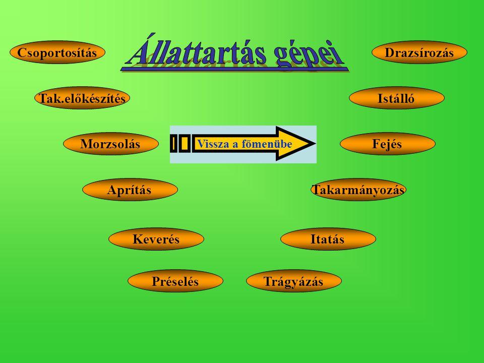 Takarmánymérlegek Térfogat szerinti mérők: - cellás adagolók, - szalagos, - csigás, - lengővályús, - vibrációs adagolók.