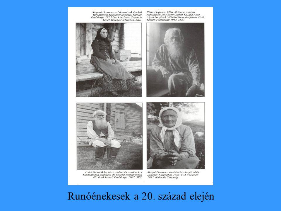 Runóénekesek a 20. század elején
