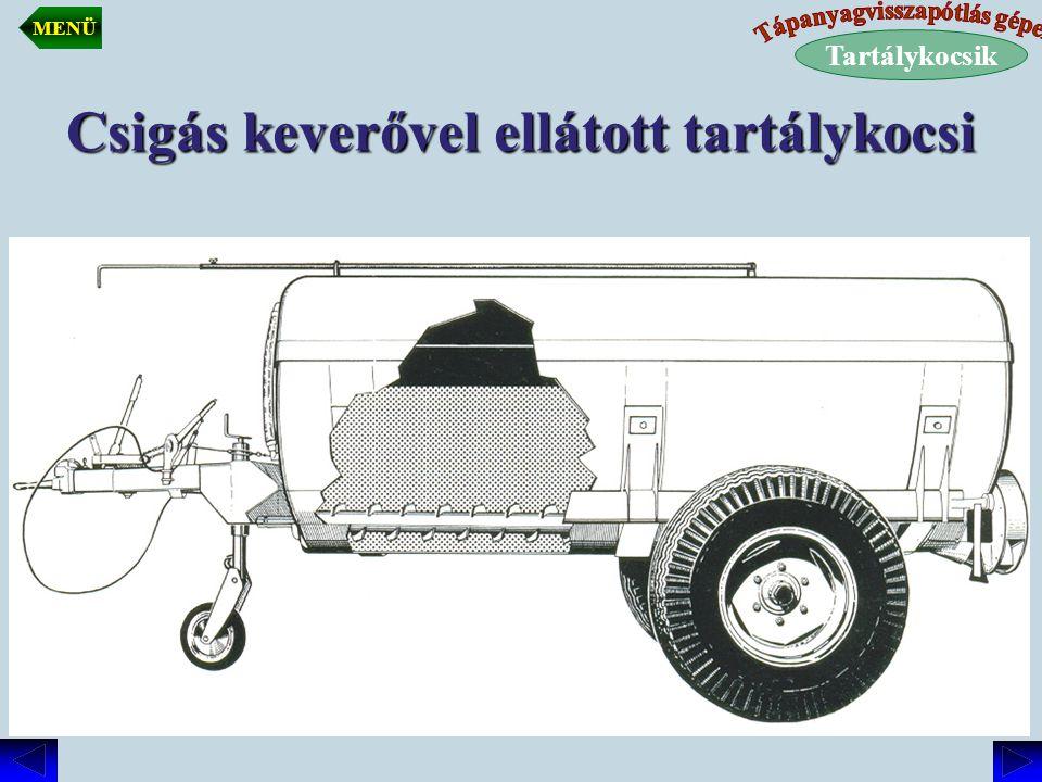 Csigás keverővel ellátott tartálykocsi Tartálykocsik MENÜ