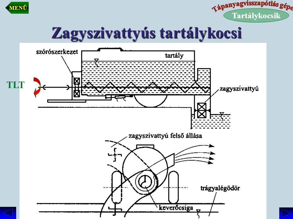 Zagyszivattyús tartálykocsi TLT Tartálykocsik MENÜ