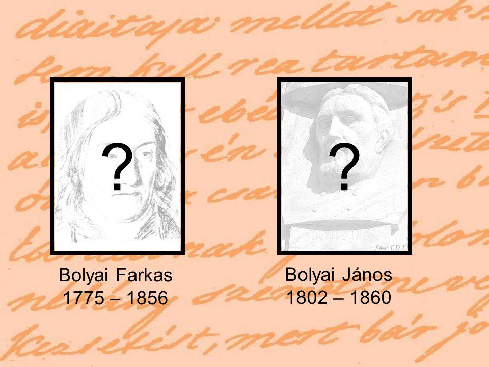 """Babits Mihály: Bolyai (1911) """"Semmiből egy új, más világot teremtettem. Bolyai János levele apjához Isten elménket bezárta a térbe."""