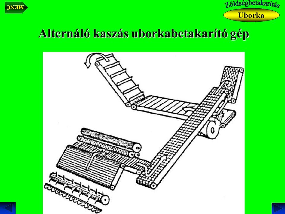 Uborka Alternáló kaszás uborkabetakarító gép MENÜ