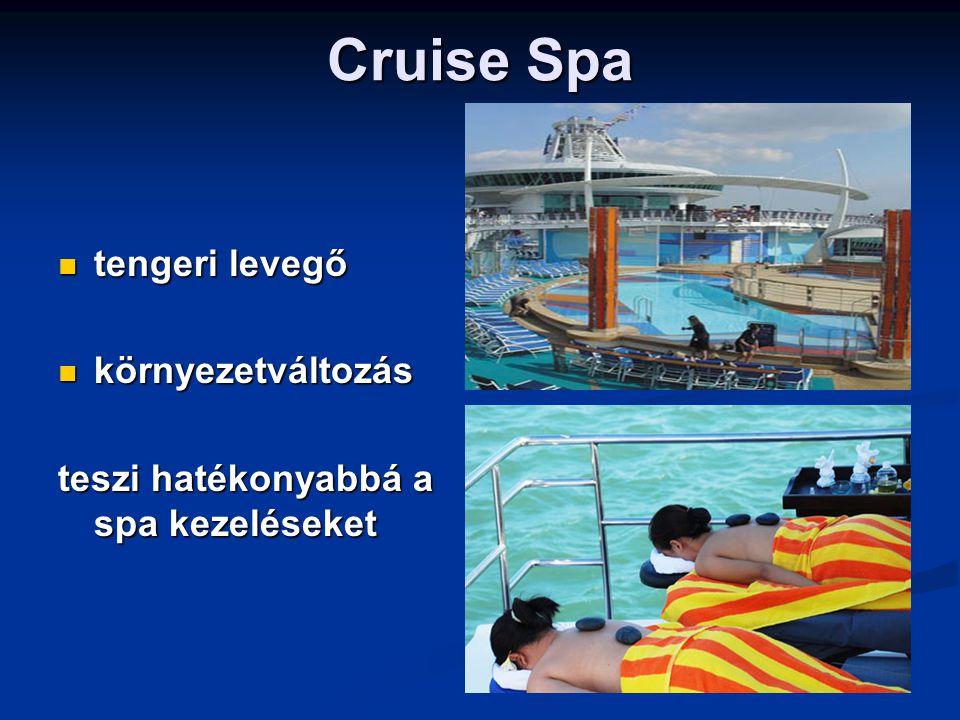 Cruise Spa tengeri levegő tengeri levegő környezetváltozás környezetváltozás teszi hatékonyabbá a spa kezeléseket